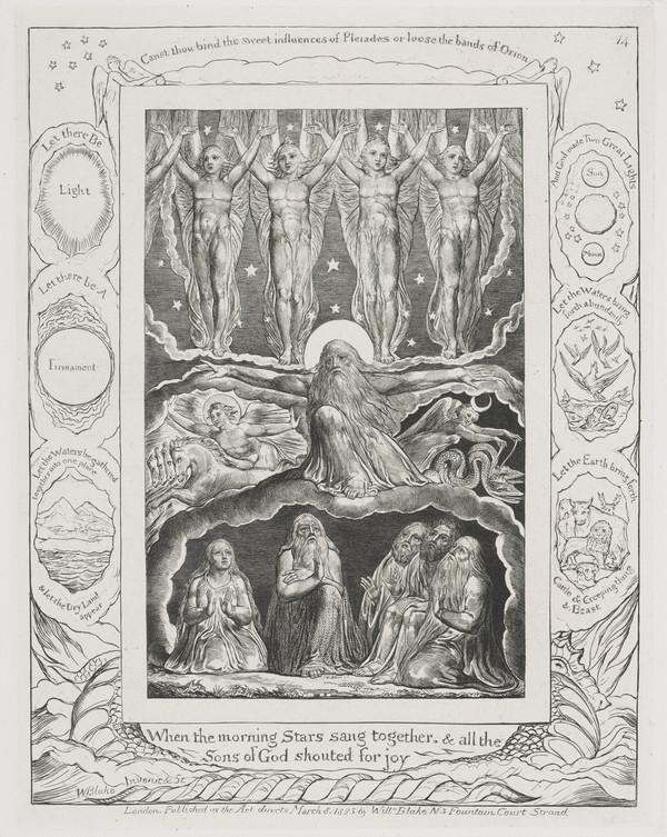 Illustration to 'The Book of Job': When the Morning Stars Sang Together (14) (1825)