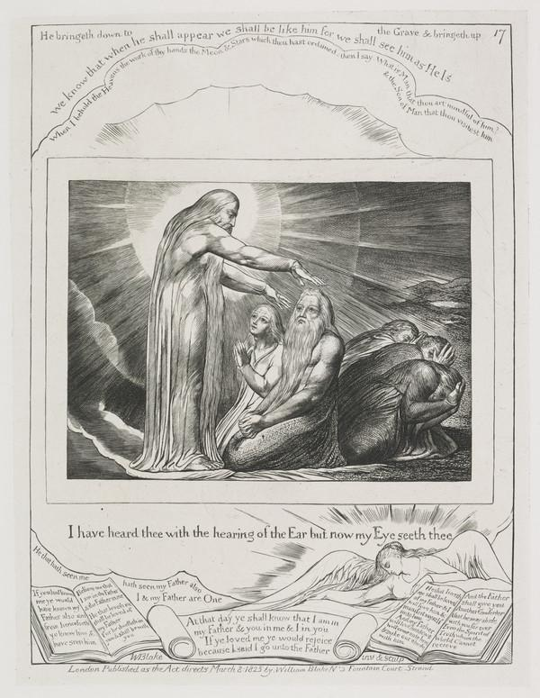 Illustration to 'The Book of Job': I Have Heard Thee with the Hearing of the Ear but now my Eye Seeth Thee (17) (1825)