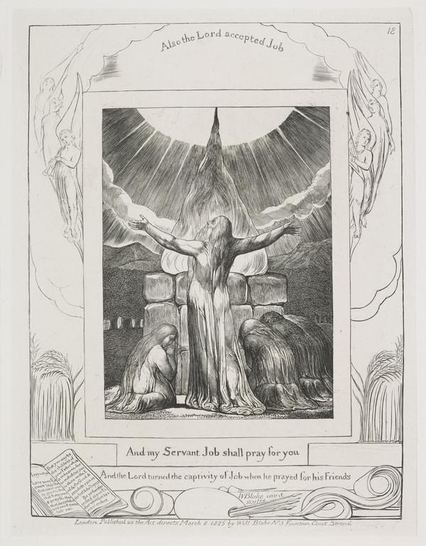 Illustration to 'The Book of Job': And My Servant Job shall Pray for you (18) (1825)