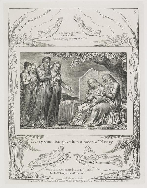 Illustration to 'The Book of Job': Every One Also Gave Him a Piece of Money (19) (1825)
