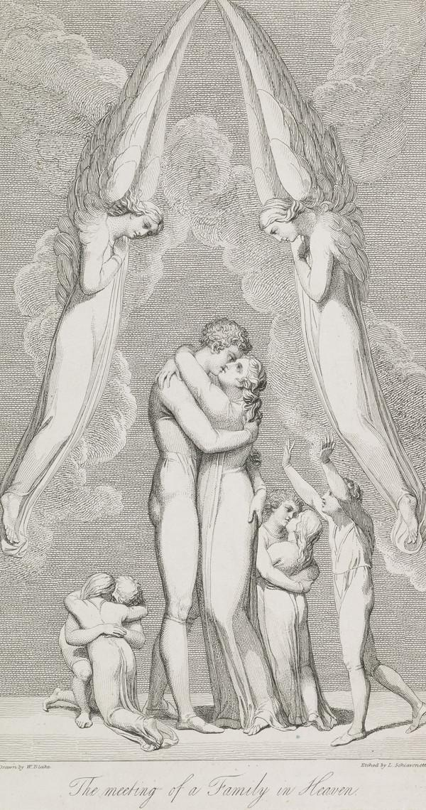 Illustration to Blair's 'The Grave': The Meeting of a Family in Heaven (Published 1813)