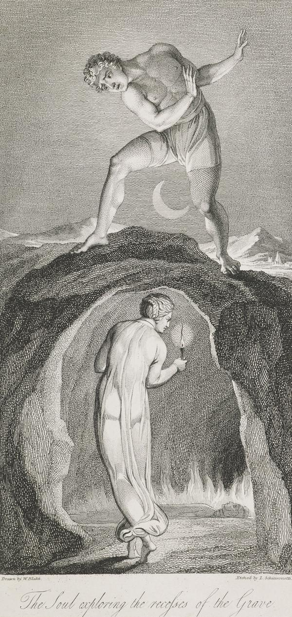 Illustration to Blair's 'The Grave': The Soul Exploring the Recesses of the Grave (Published 1813)