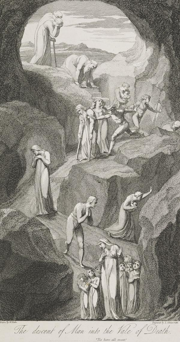 Illustration to Blair's 'The Grave': The Descent of Man into the Vale of Death (Published 1813)
