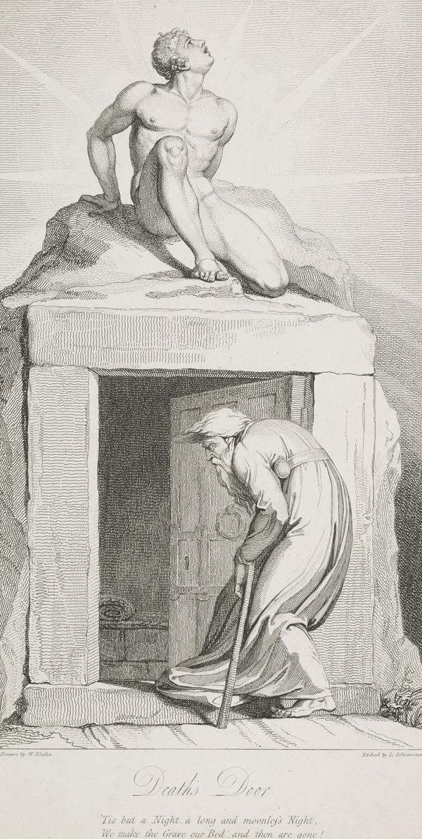 Illustration to Blair's 'The Grave': Death's Door (Published 1813)