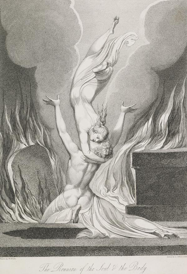 Illustration to Blair's 'The Grave': The Reunion of the Soul and Body (Published 1813)