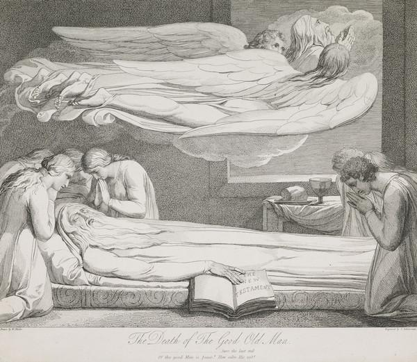 Illustration to Blair's 'The Grave': The Death of the Good Old Man (Published 1813)