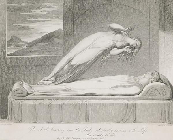 Illustration to Blair's 'The Grave': The Soul Hovering over the Body Reluctantly Parting with Life (Published 1813)