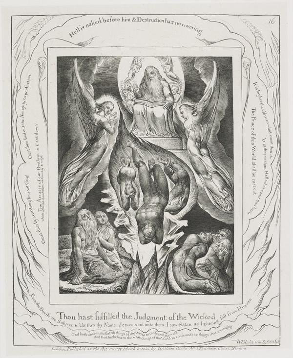 Illustration to 'The Book of Job': Thou Hast Fulfilled The Judgement of the Wicked (16) (1825)