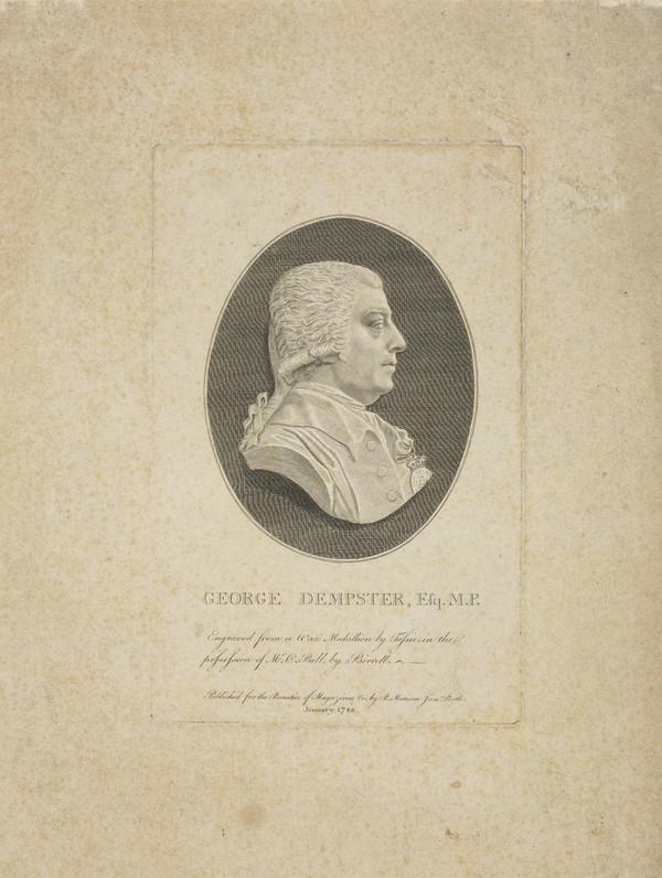 George Dempster of Dunnichen, 1732 - 1818. Agriculturist and Member of Parliament (Published 1788)