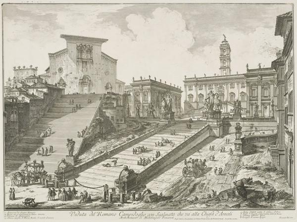 Vedute di Roma: View of the Capitoline Hill with the steps to the Church of S. Maria in Aracoeli