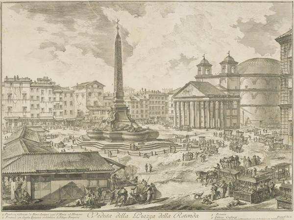 Vedute di Roma: View of the Piazza della Rotonda