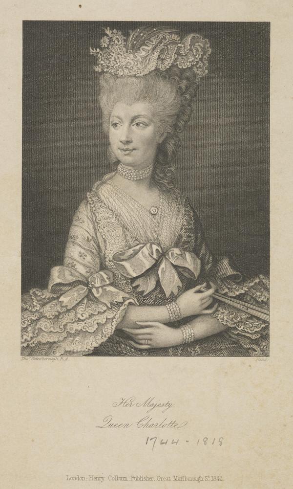 Queen Charlotte; Princess Sophia Charlotte of Mecklenburg-Strelitz, 1744 - 1818. Queen of George III (Published 1842)
