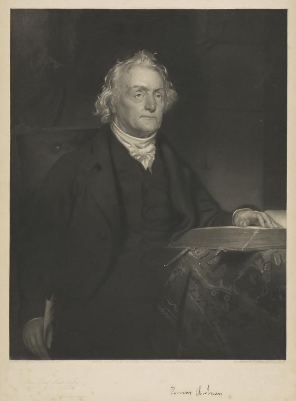 Rev. Thomas Chalmers, 1780 - 1847. Preacher and social reformer (1845)