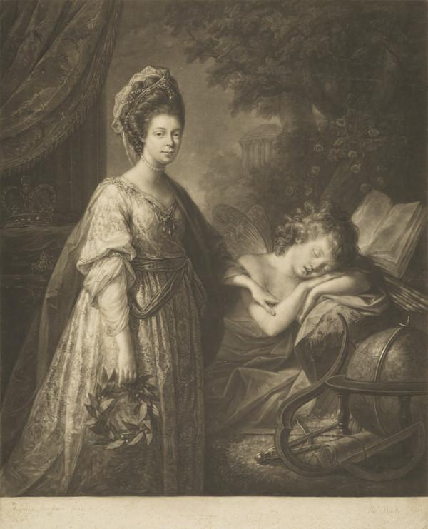 Queen Charlotte; Princess Sophia Charlotte of Mecklenburg-Strelitz, 1744 - 1818. Queen of George III (Published 1772)
