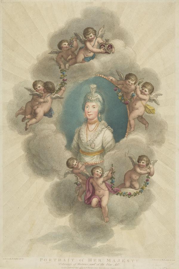 Queen Charlotte; Princess Sophia Charlotte of Mecklenburg-Strelitz, 1744 - 1818. Queen of George III (1799)