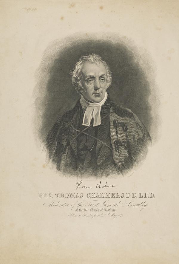 Rev. Thomas Chalmers, 1780 - 1847. Preacher and social reformer