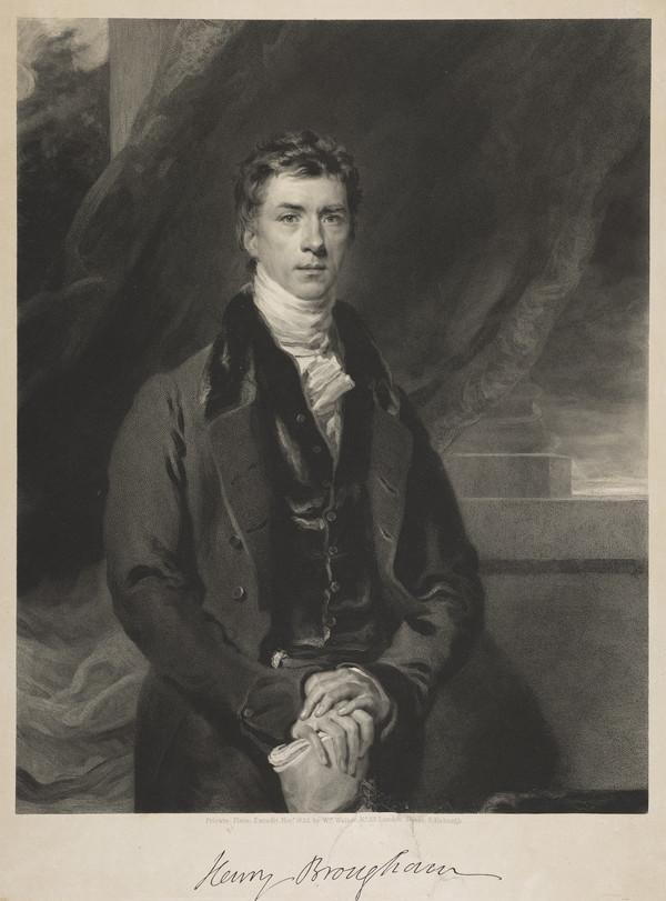 Henry Peter Brougham, 1st Baron Brougham and Vaux, 1778 - 1868. Statesman (1830)