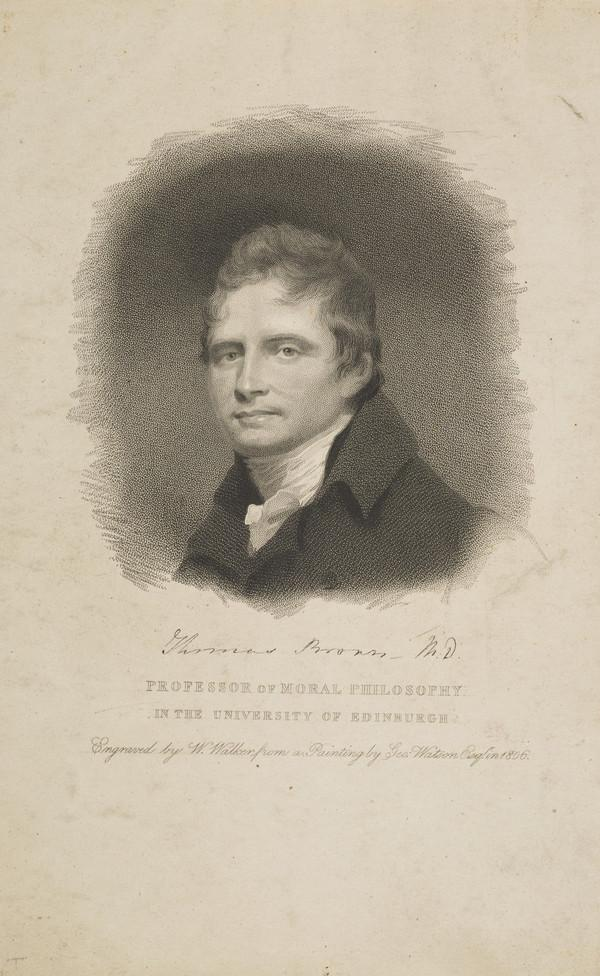 Dr Thomas Brown, 1778 - 1820. Professor of Moral Philosophy, Edinburgh University