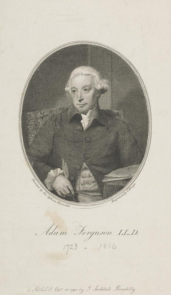 Adam Ferguson, 1723 - 1816. Professor of Philosophy, Edinburgh University (Published 1790)