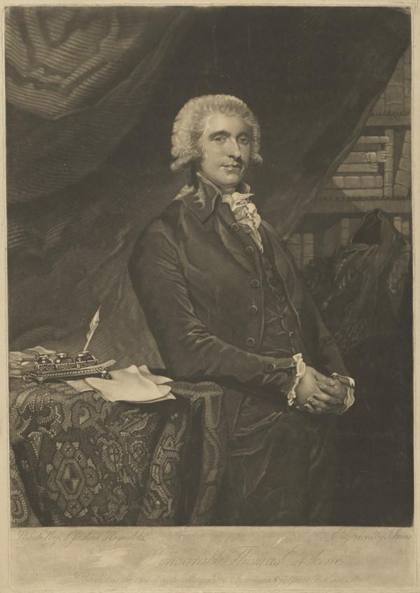 Thomas Erskine, 1st Baron Erskine, 1750 - 1823. Lord Chancellor (Published 1790)
