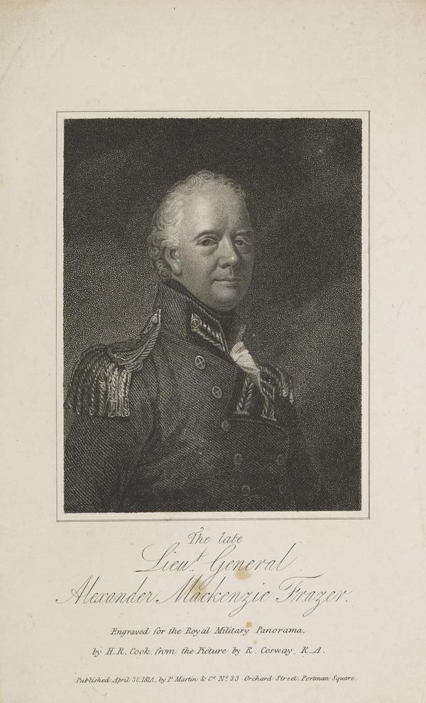 Lieutenant General Alexander Mackenzie Fraser, 1756 - 1809. Soldier (Published 1814)