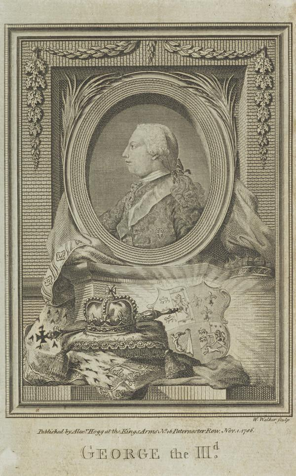George III, 1738 - 1820. Reigned 1760 - 1820 (Published 1786)