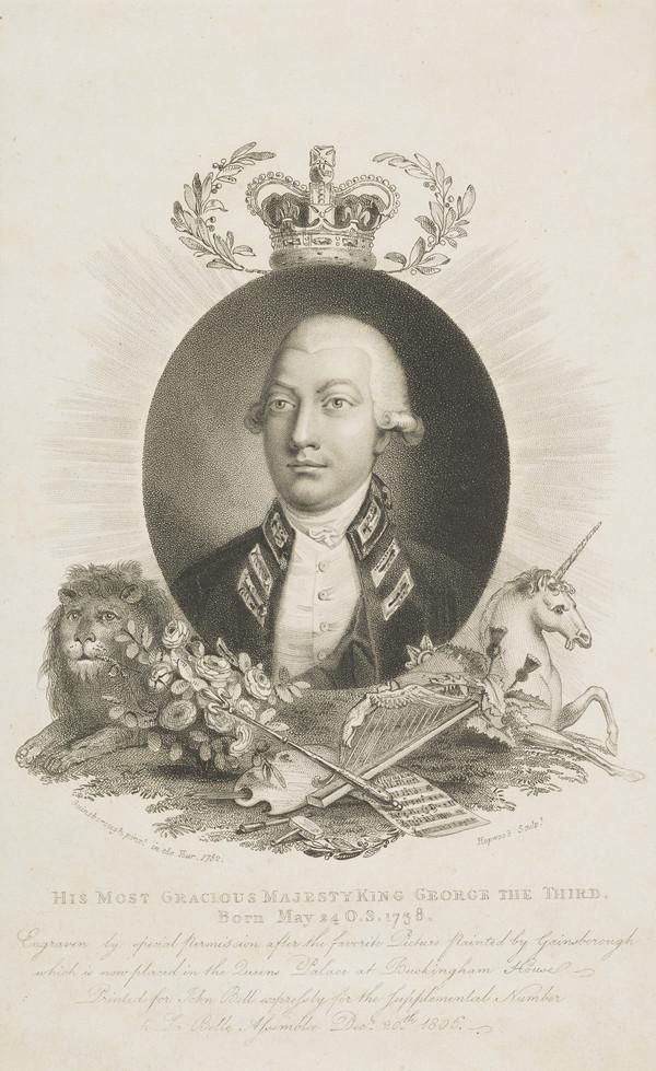 George III, 1738 - 1820. Reigned 1760 - 1820 (Published 1806)