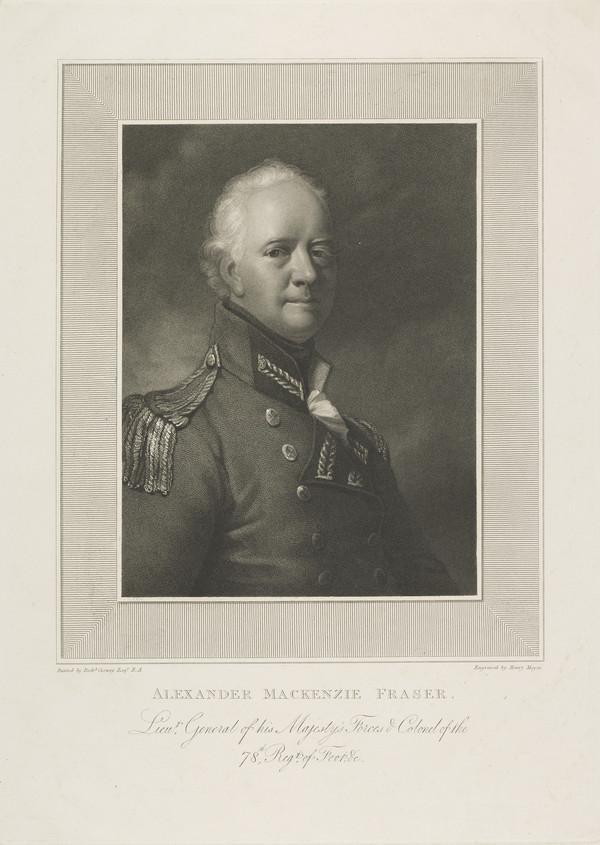 Lieutenant General Alexander Mackenzie Fraser, 1756 - 1809. Soldier