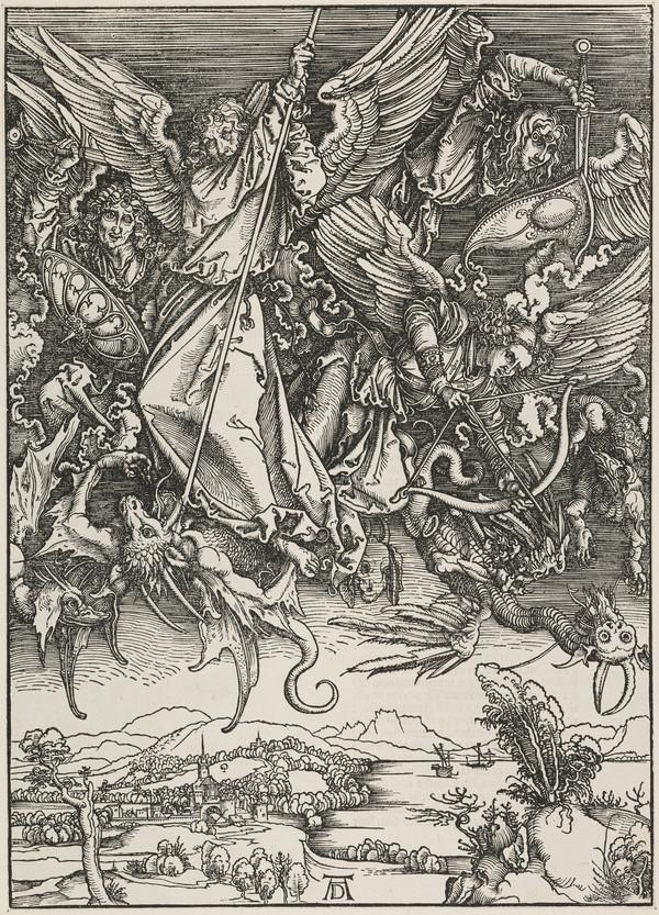 Saint Michael Fighting the Dragon (The Apocalypse) (About 1498)