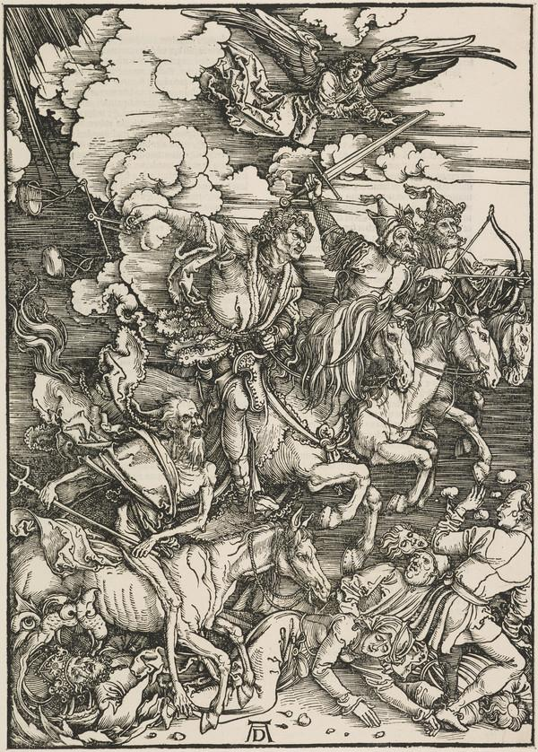 'The Four Horsemen of the Apocalypse' from 'The Apocalypse: Revelation of Saint John the Divine' (About 1498)