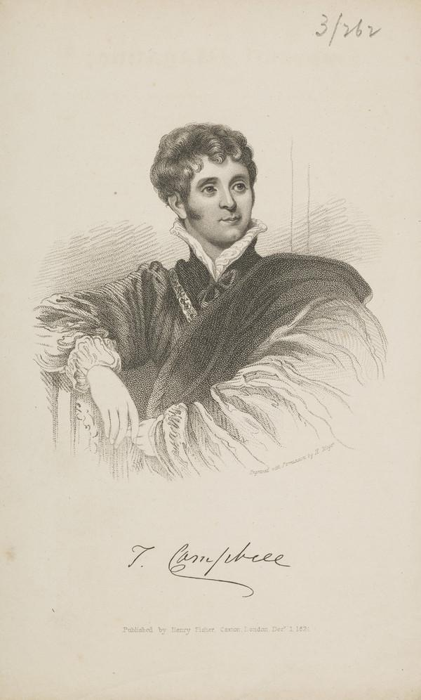 Thomas Campbell, 1777 - 1844. Poet and critic (Published 1824)