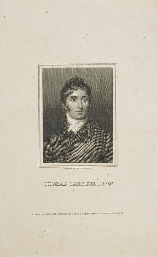 Thomas Campbell, 1777 - 1844. Poet and critic
