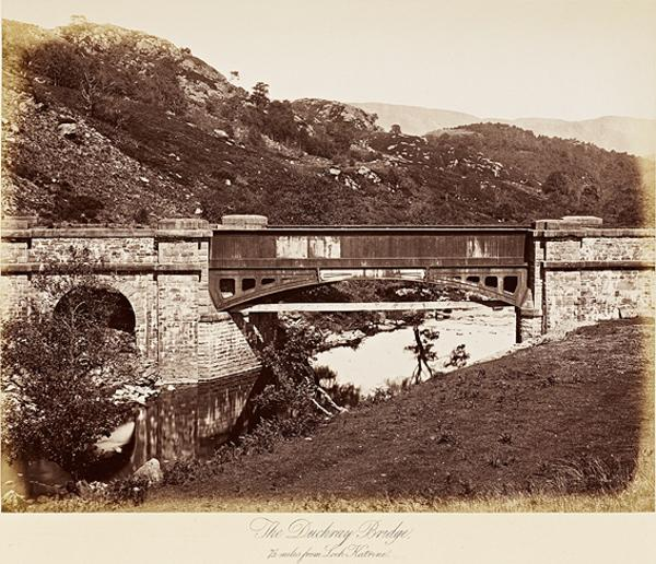 The Duchray Bridge, 7 1/2 miles from Loch Katrine (Published 1877)