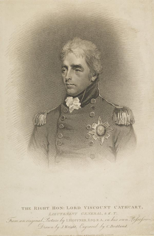 General Sir William Schaw, 10th Baron and 1st Earl of Cathcart, 1755 - 1843. Diplomat and soldier (Published 1809)