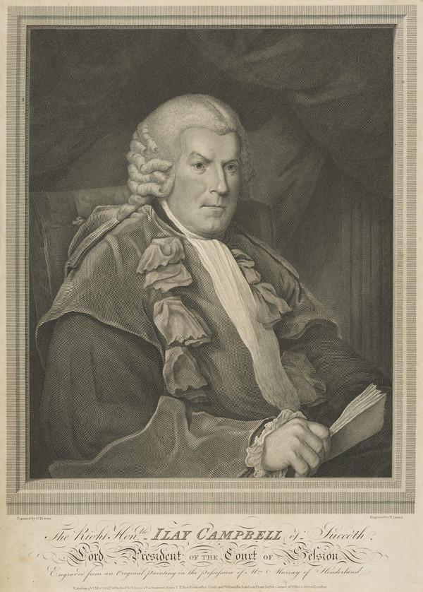 Sir Ilay Campbell of Succoth, 1734 - 1823. Lord President (Published 1804)