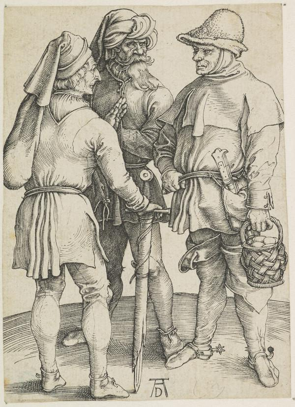 Three Peasants in Conversation (About 1497)