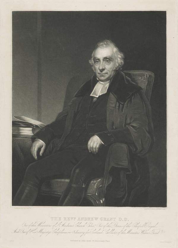 Rev. Andrew Grant. St Andrews Church, Edinburgh