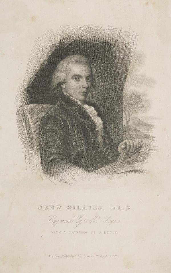 John Gillies, 1747 - 1836. Historiographer Royal of Scotland (Published 1825)