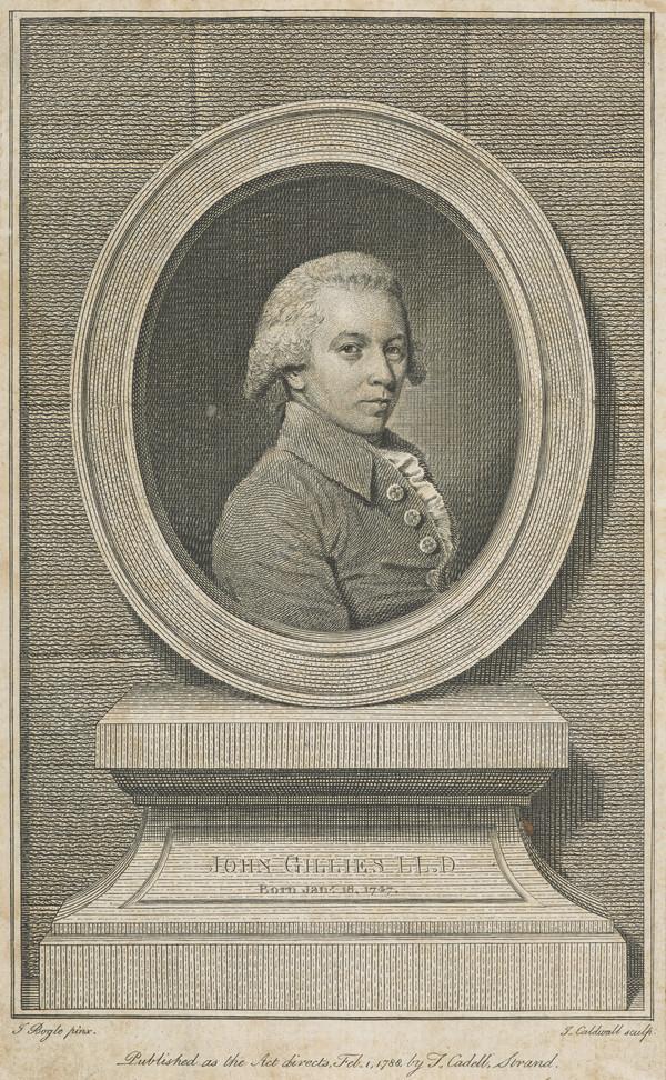 John Gillies, 1747 - 1836. Historiographer Royal of Scotland (Published 1788)