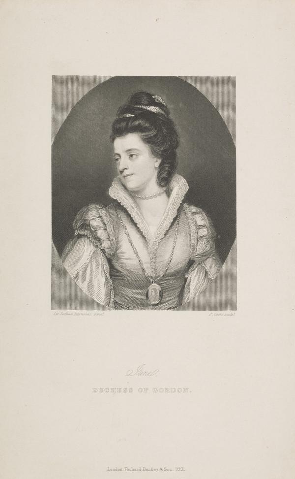 Jane Maxwell, Duchess of Gordon, c 1749 - 1812. Wife of the 4th Duke of Gordon (Published 1891)