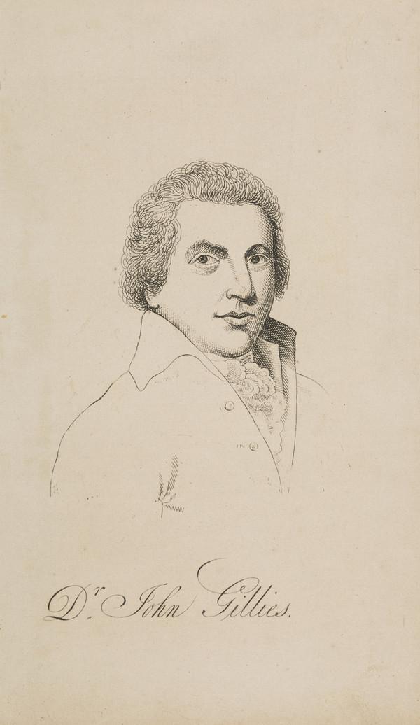 John Gillies, 1747 - 1836. Historiographer Royal of Scotland