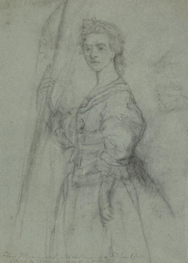 Flora Macdonald [Fionnghal nighean Raghnaill 'ic Aonghais Òig], 1722 - 1790. Jacobite heroine (About 1747)