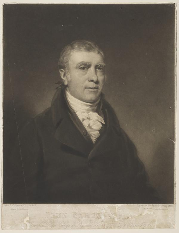 Rev. John Barclay, 1758 - 1826. Anatomist (1820)