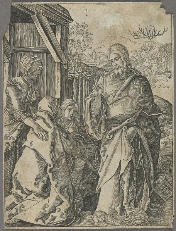 Copy after woodcut Christ Taking Leave of his mother