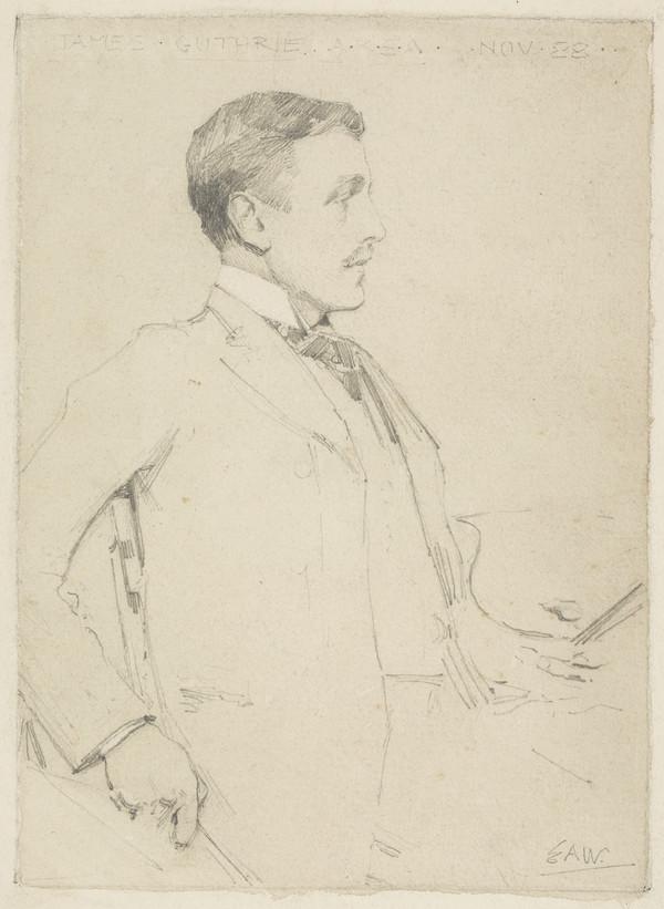 Sir James Guthrie, 1859 - 1930. Artist and President of the Royal Scottish Academy (1888)