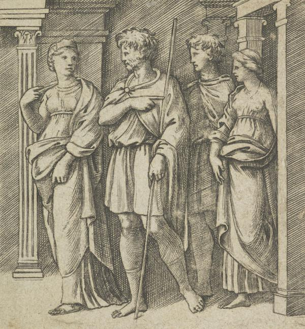 Aeneas and Achates at the temple of Carthage