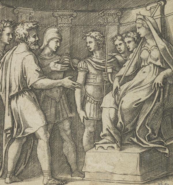 Ilioneus and the Trojans before Dido