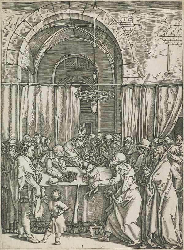 Rejection of Joachim's offering in the Temple