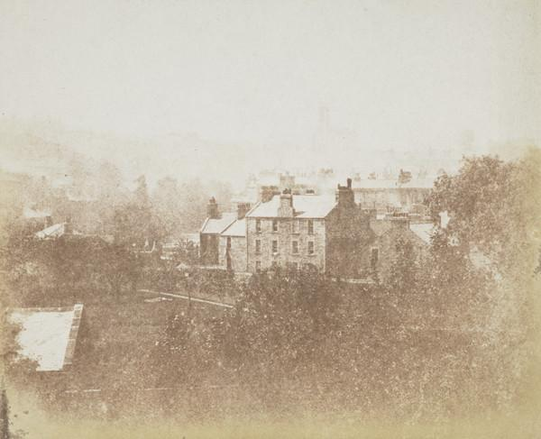 View from west Claremont Street, Edinburgh (1840s)