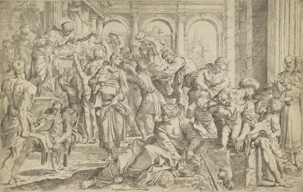 St Roch distributing alms (1610)